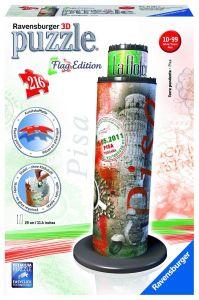 3D ΠΑΖΛ RAVENSBURGER Ο ΠΥΡΓΟΣ ΤΗΣ ΠΙΖΑΣ 216TEM FLAG EDITION