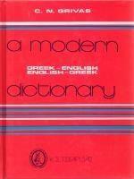A MODERN GREEK-ENGLISH/ ENGLISH-GREEK DICTIONARY