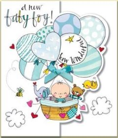 ΚΑΡΤΑ R.E.D.HFWED39 NEW BABY BOY BALLONS