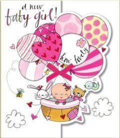 ΚΑΡΤΑ R.E.D.HFWED38 NEW BABY GIRLS BALLONS