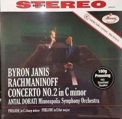 BYRON JANIS / RACHMANINOFF CONCERTO NO 2 IN C MINOR - LP 180gr