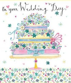 ΚΑΡΤΑ R.E.D.PRESS4 FLOWER PRESS WEDDING DAY CAKE