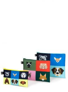STEPHEN CHEETHAM DOGS &CATS ZIP POCKETS
